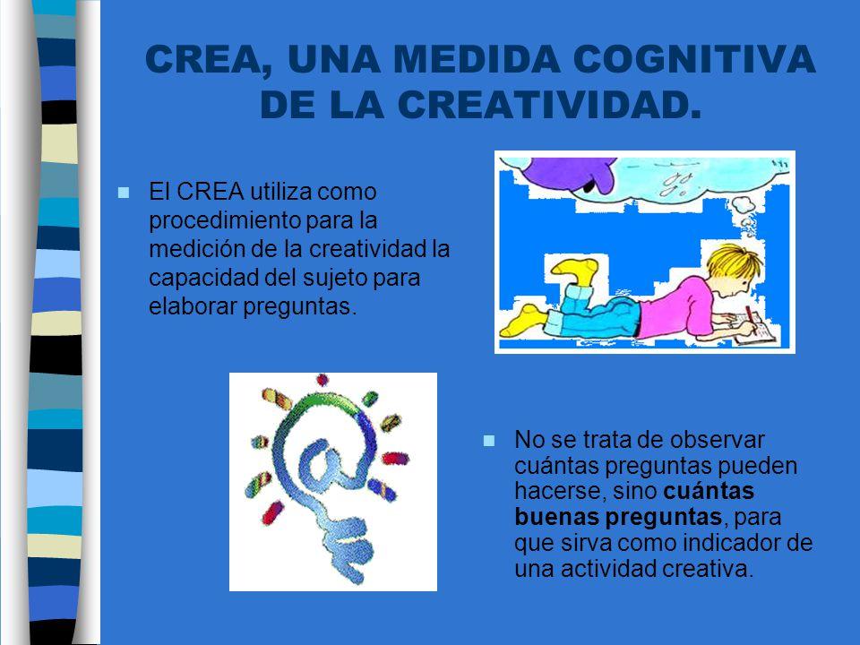 CREA, UNA MEDIDA COGNITIVA DE LA CREATIVIDAD.