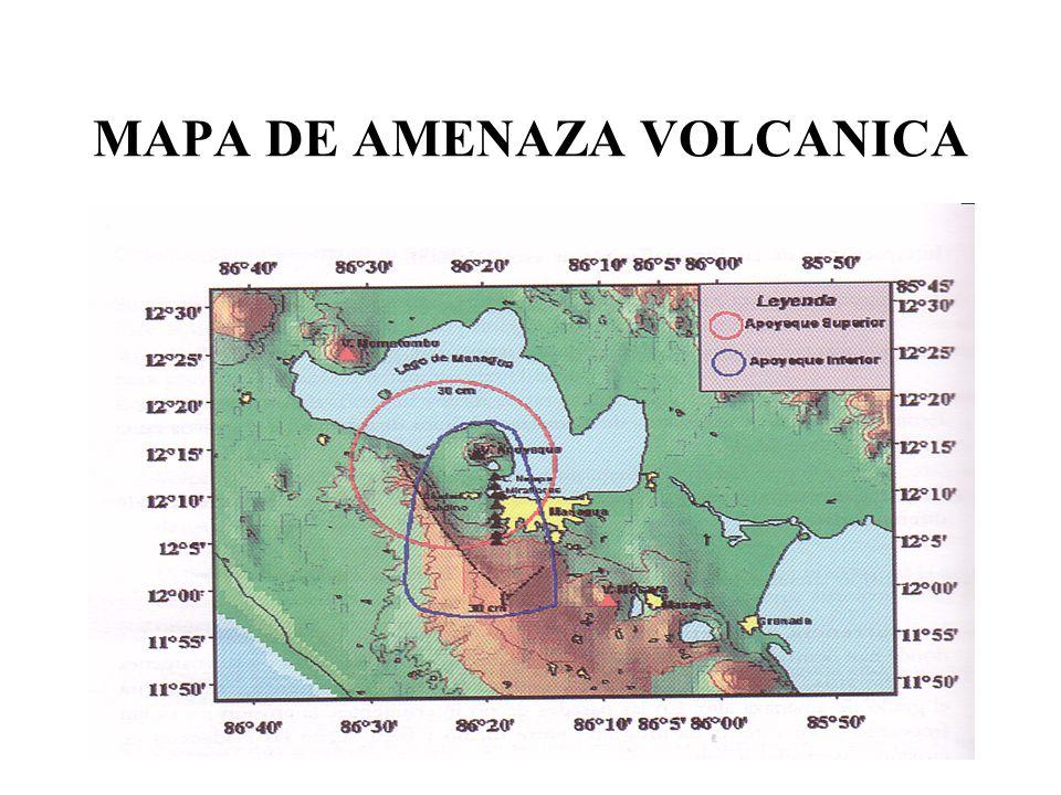 MAPA DE AMENAZA VOLCANICA