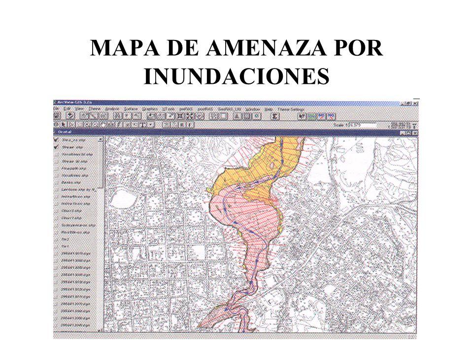 MAPA DE AMENAZA POR INUNDACIONES