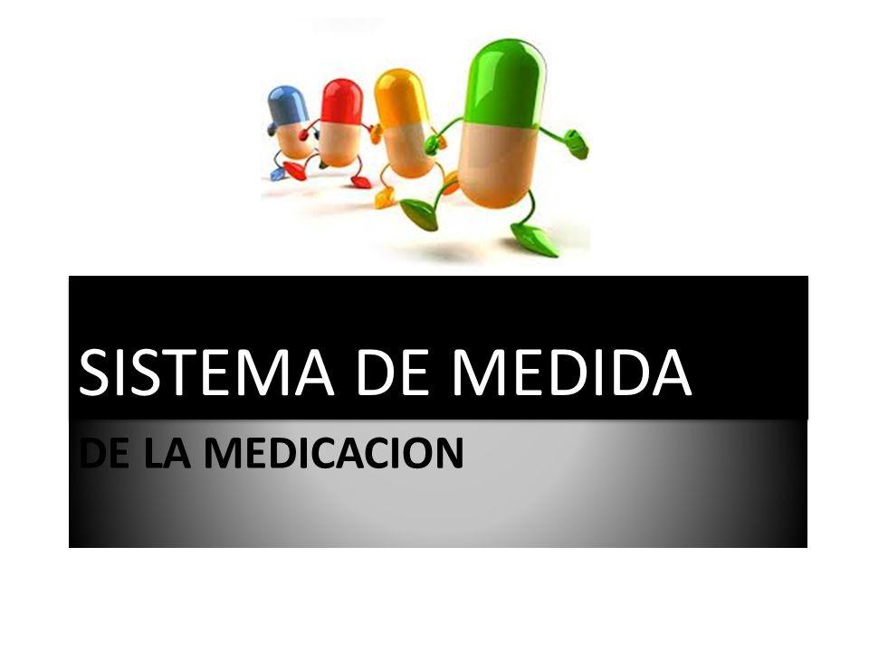 SISTEMA DE MEDIDA DE LA MEDICACION
