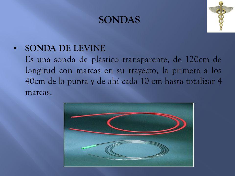 SONDAS SONDA DE LEVINE.