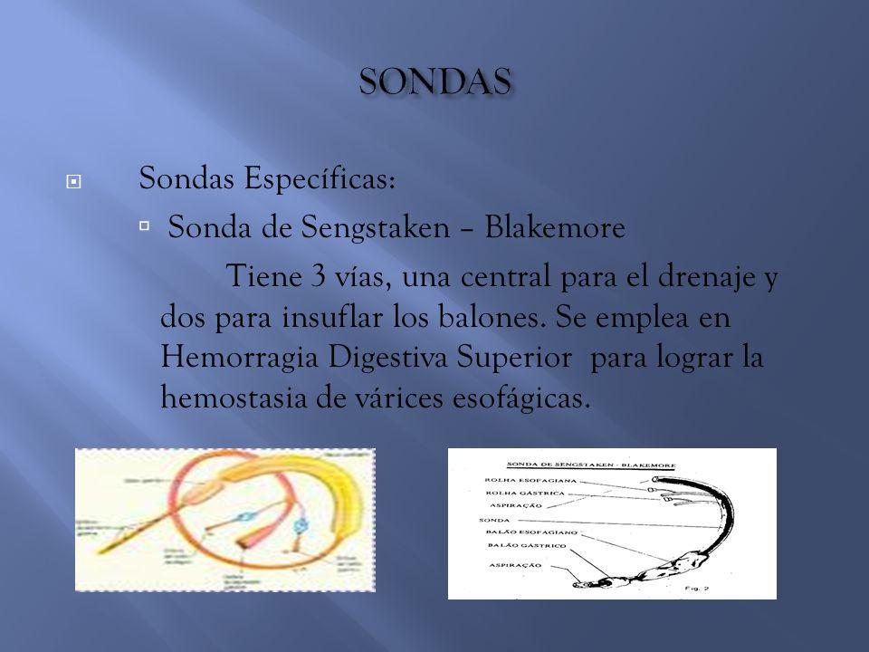 SONDAS Sonda de Sengstaken – Blakemore