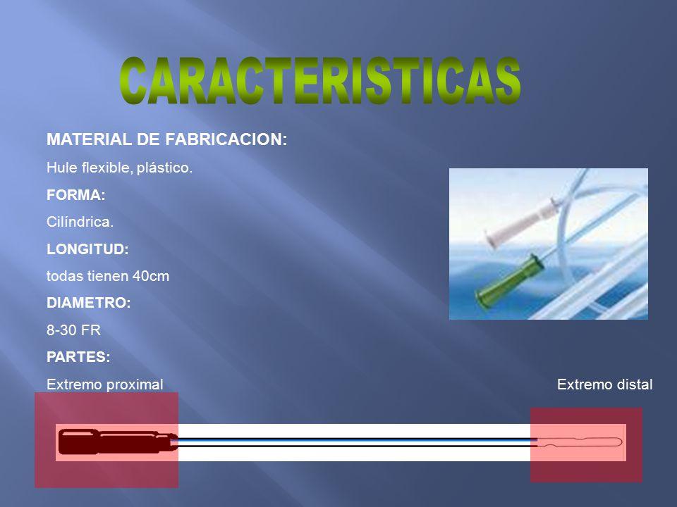 CARACTERISTICAS MATERIAL DE FABRICACION: Hule flexible, plástico.