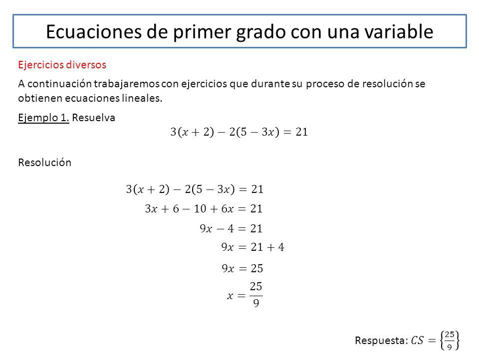 Tema ecuaciones de primer grado con una variable ppt for Ecuaciones de cuarto grado