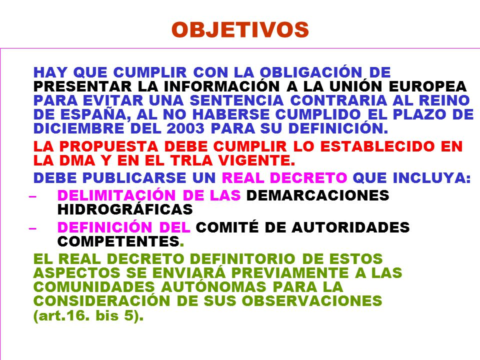 La aplicaci n de la directiva marco y el programa a g u a - Art 16 bis del tuir ...