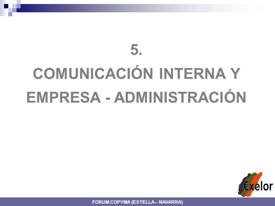5. COMUNICACIÓN INTERNA Y EMPRESA - ADMINISTRACIÓN