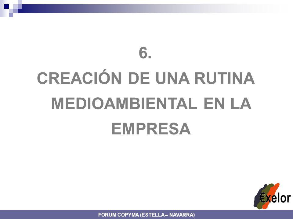 6. CREACIÓN DE UNA RUTINA MEDIOAMBIENTAL EN LA EMPRESA