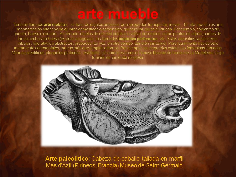 Arte paleol tico ppt video online descargar for Q es arte mobiliar