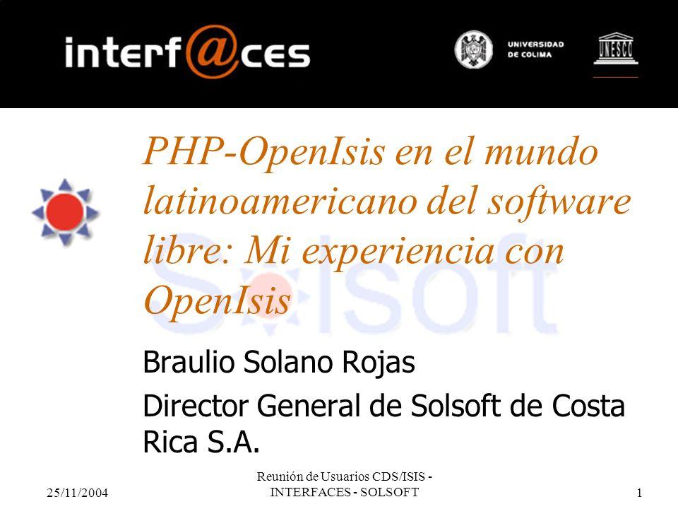 Braulio Solano Rojas Director General de Solsoft de Costa Rica S.A.