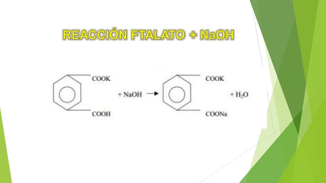 REACCIÓN FTALATO + NaOH