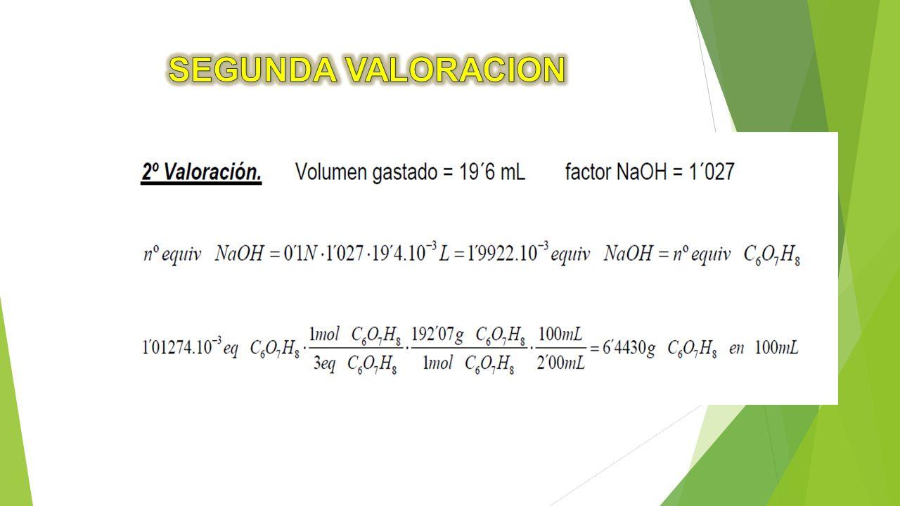 SEGUNDA VALORACION