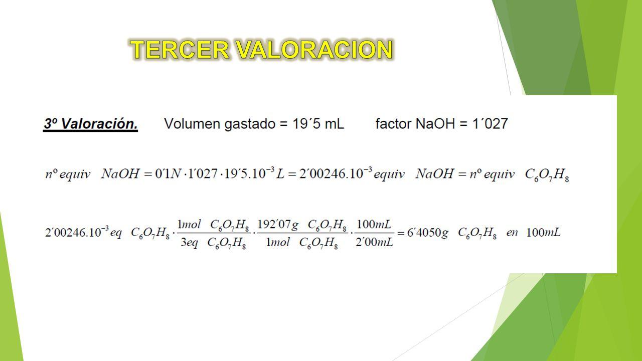 TERCER VALORACION