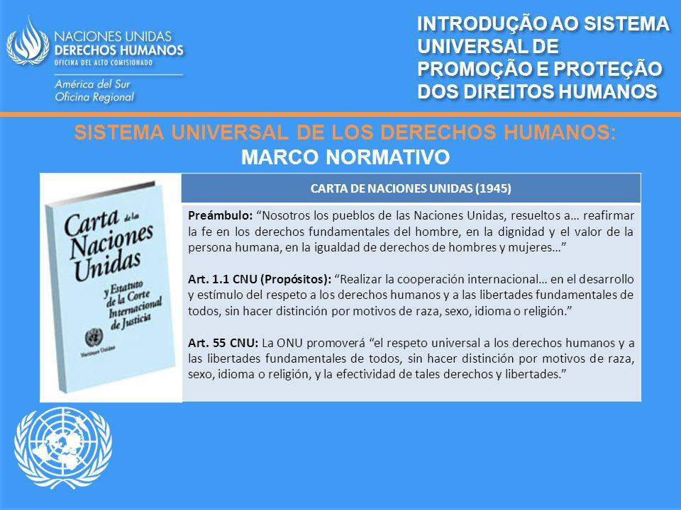 SISTEMA UNIVERSAL DE LOS DERECHOS HUMANOS: MARCO NORMATIVO