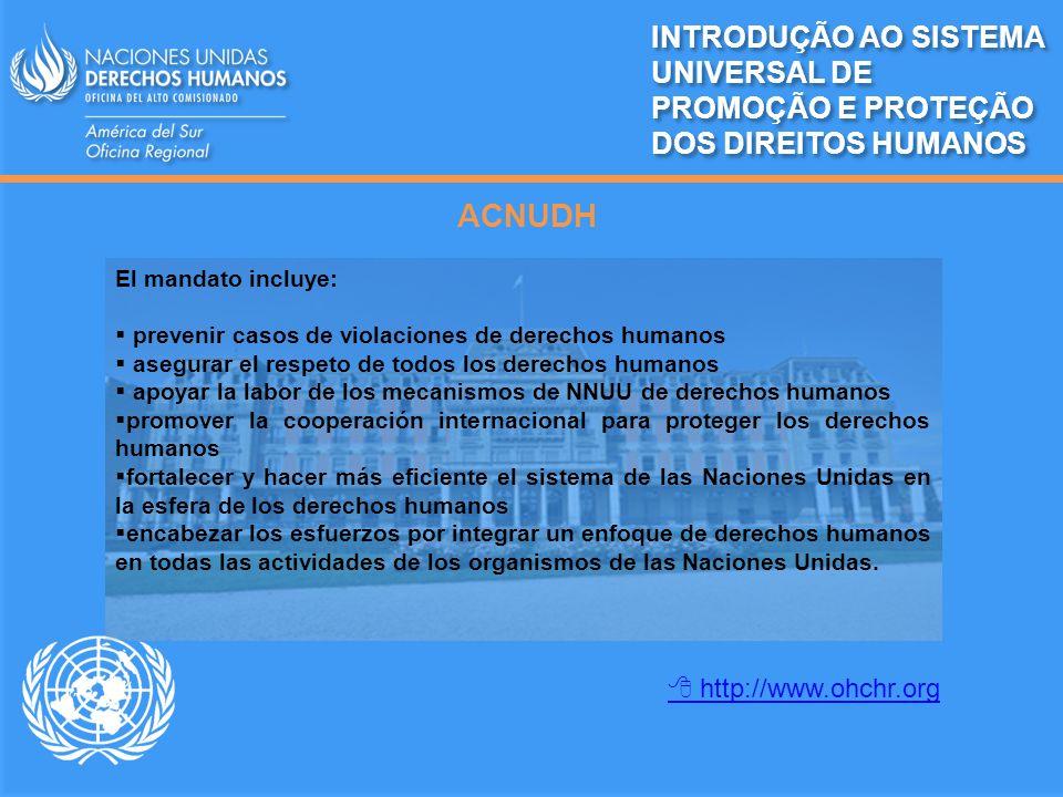 INTRODUÇÃO AO SISTEMA UNIVERSAL DE PROMOÇÃO E PROTEÇÃO DOS DIREITOS HUMANOS