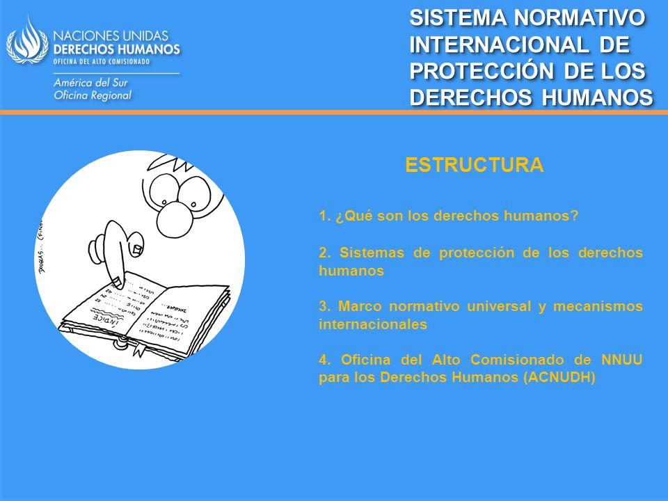 SISTEMA NORMATIVO INTERNACIONAL DE PROTECCIÓN DE LOS DERECHOS HUMANOS
