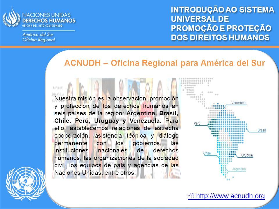 ACNUDH – Oficina Regional para América del Sur