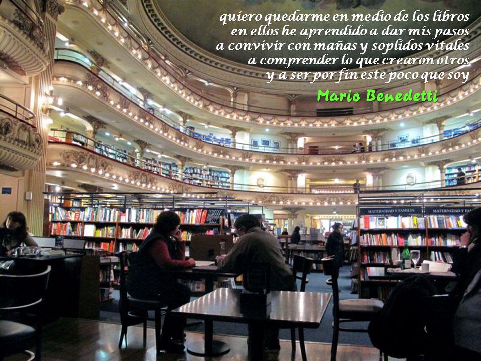 Mario Benedetti Herman Hesse quiero quedarme en medio de los libros