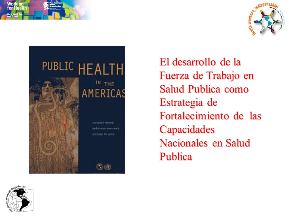 El desarrollo de la Fuerza de Trabajo en Salud Publica como Estrategia de Fortalecimiento de las Capacidades Nacionales en Salud Publica
