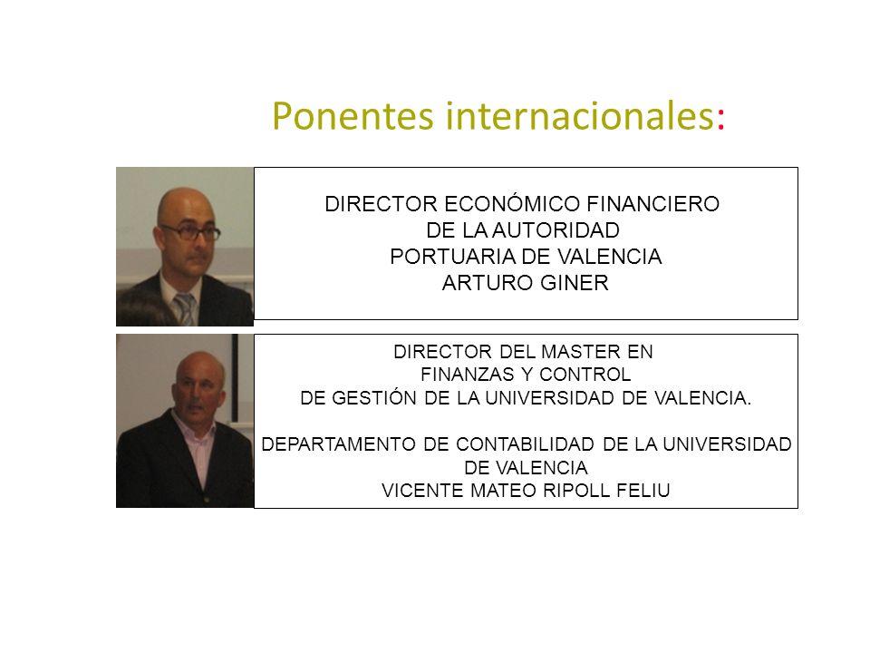 Ponentes internacionales: