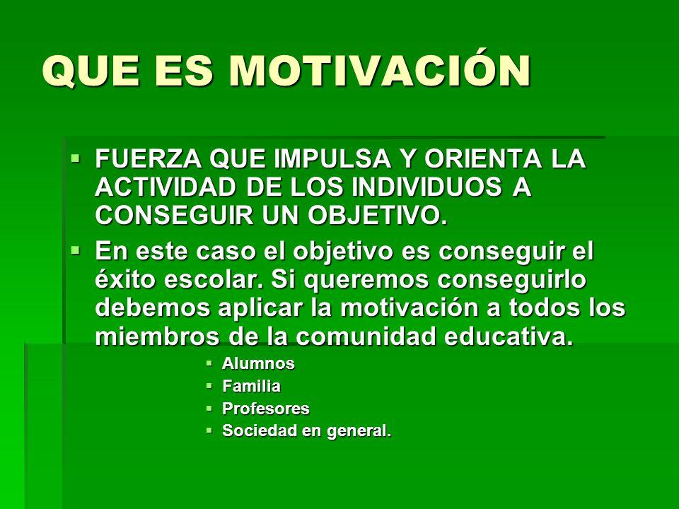 La motivaci n y el xito escolar ppt video online descargar for Que es un vivero escolar