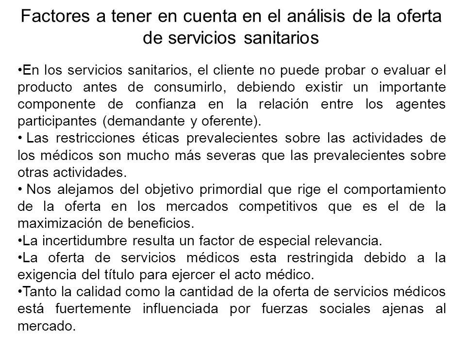 Demanda y oferta de servicios sanitarios ppt descargar for Ofertas de sanitarios