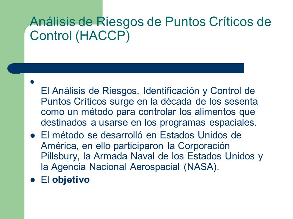 Análisis de Riesgos de Puntos Críticos de Control (HACCP)