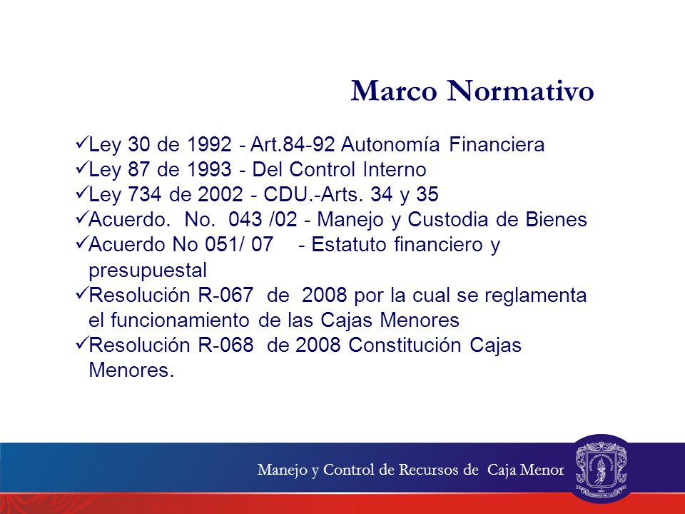 Marco Normativo Ley 30 de 1992 - Art.84-92 Autonomía Financiera