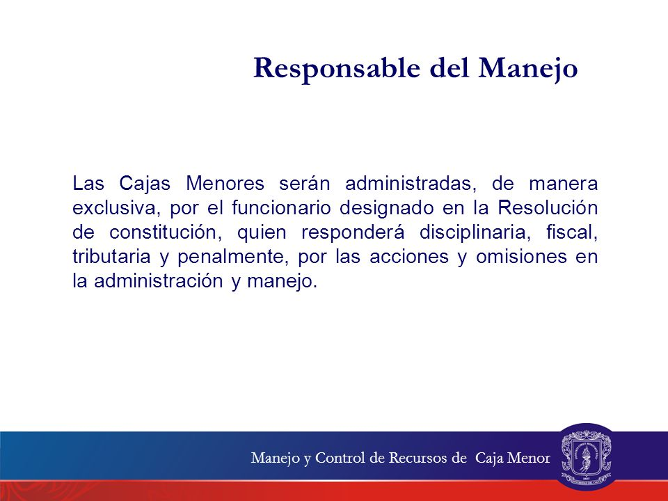 Responsable del Manejo