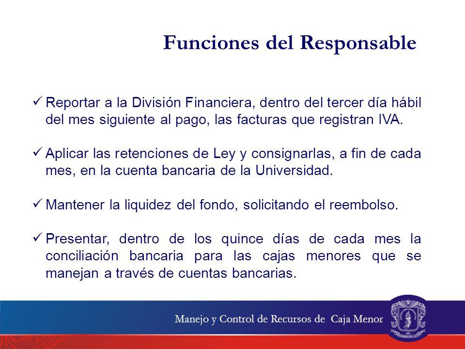 Funciones del Responsable