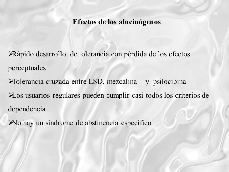 Efectos de los alucinógenos