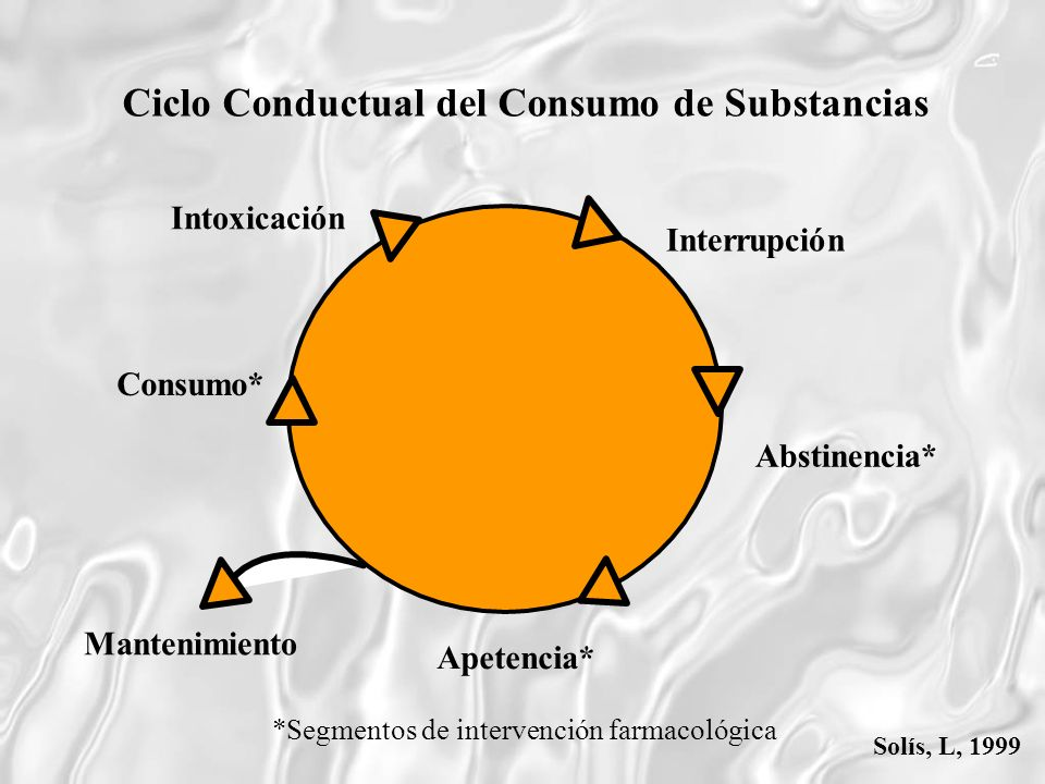 Ciclo Conductual del Consumo de Substancias