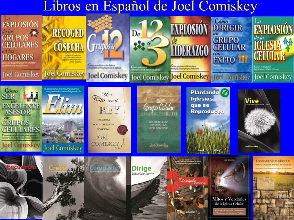 Libros En Español De Joel Comiskey