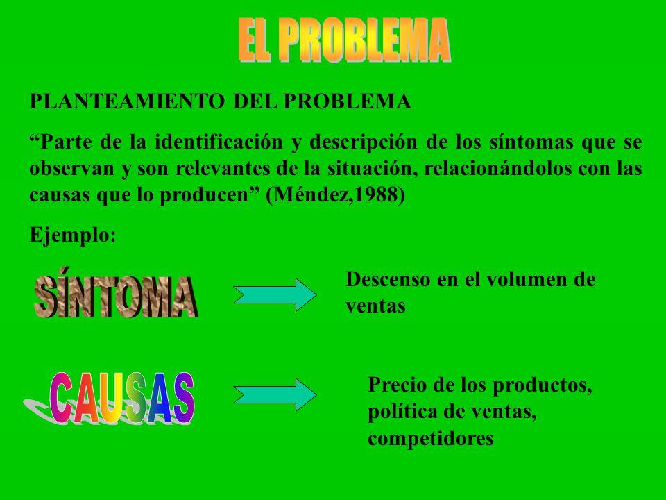 EL PROBLEMA PLANTEAMIENTO DEL PROBLEMA