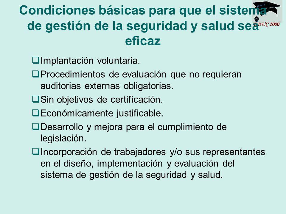 Condiciones básicas para que el sistema de gestión de la seguridad y salud sea eficaz