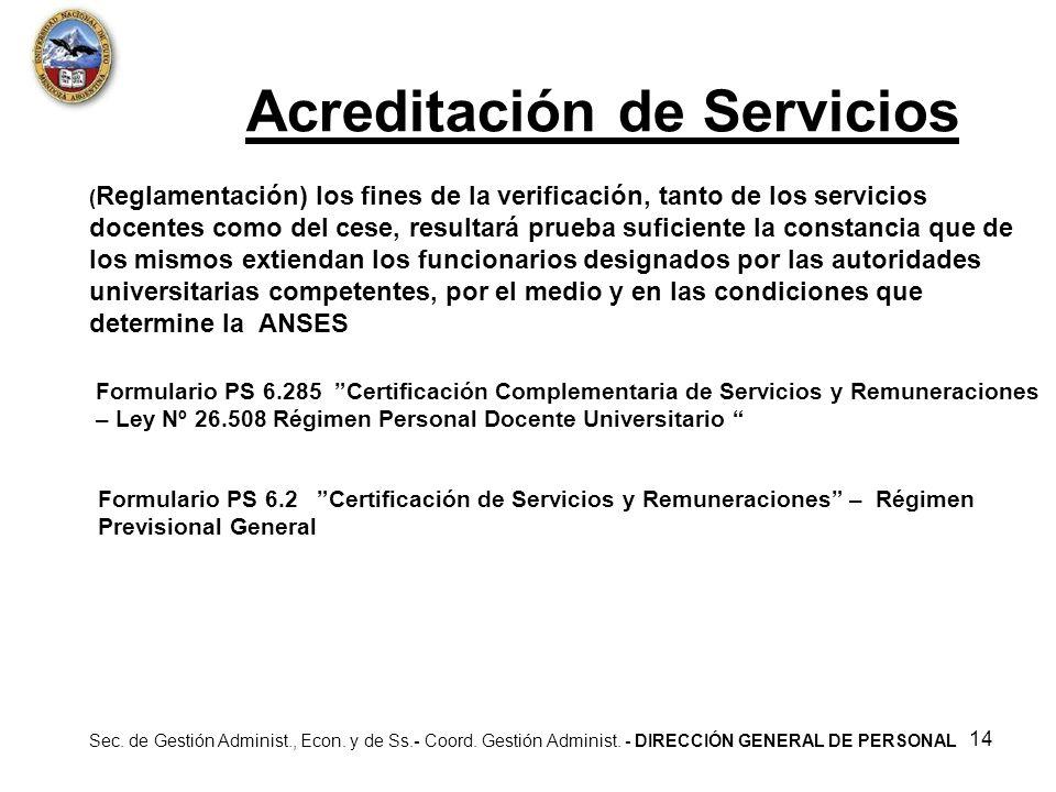 Acreditación de Servicios