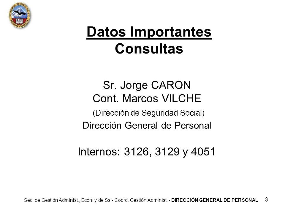 Datos Importantes Consultas