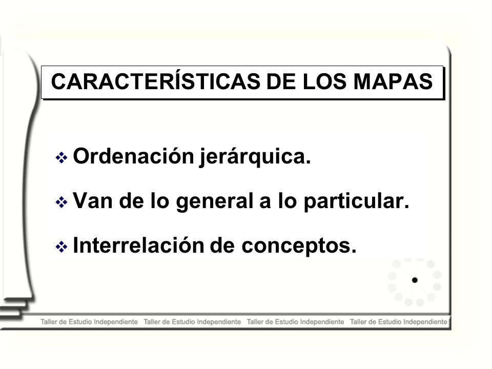 CARACTERÍSTICAS DE LOS MAPAS