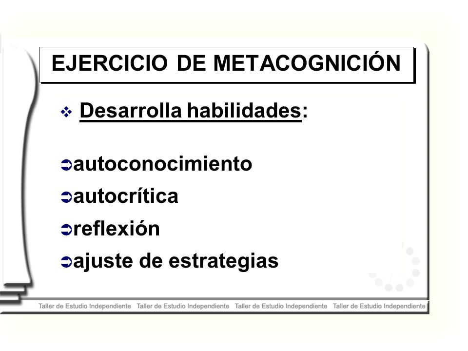 EJERCICIO DE METACOGNICIÓN
