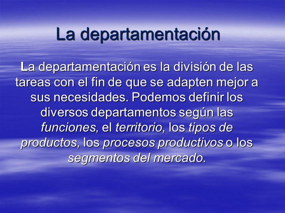 La departamentación