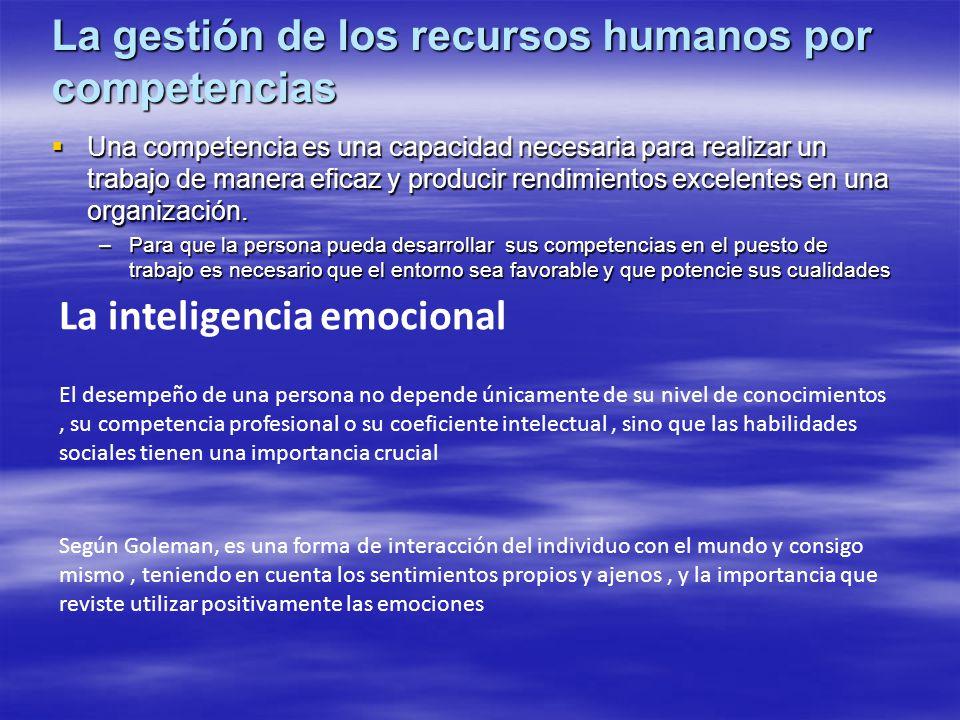 La gestión de los recursos humanos por competencias