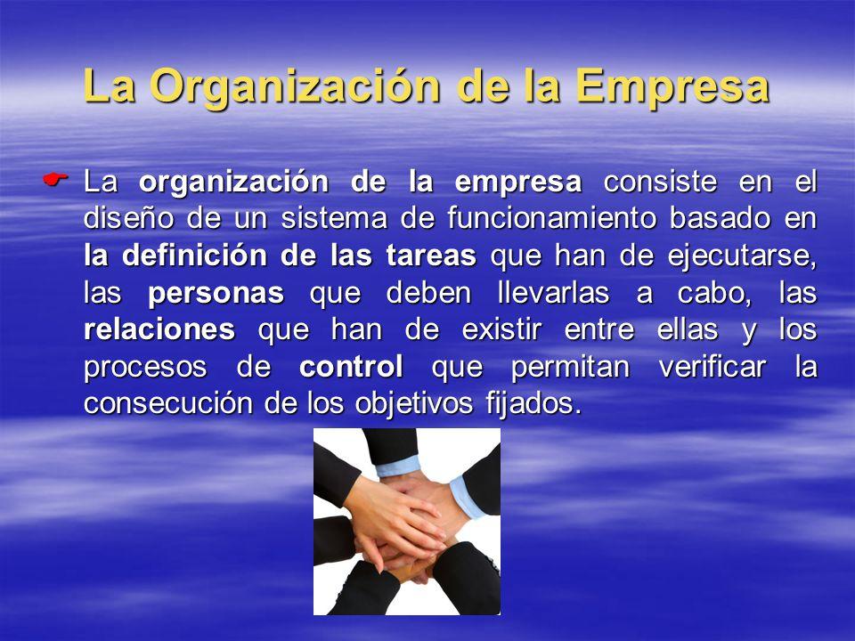 La Organización de la Empresa