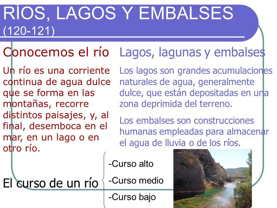 RÍOS, LAGOS Y EMBALSES (120-121)