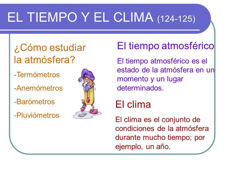 EL TIEMPO Y EL CLIMA (124-125) El tiempo atmosférico