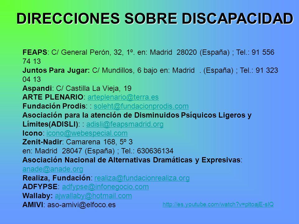 Discapacidad intelectual en ni os institucionalizados for Direccion madrid espana
