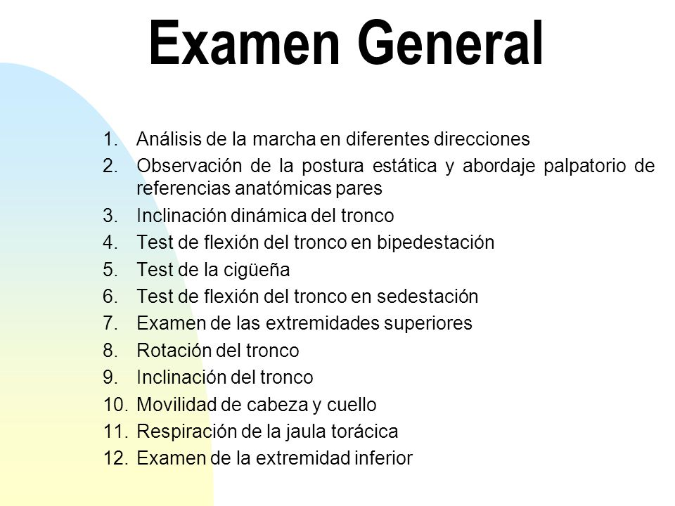 Examen General Análisis de la marcha en diferentes direcciones