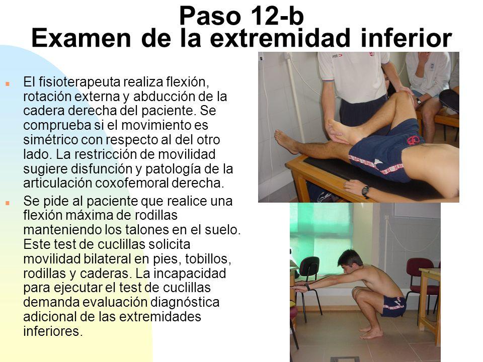 Paso 12-b Examen de la extremidad inferior