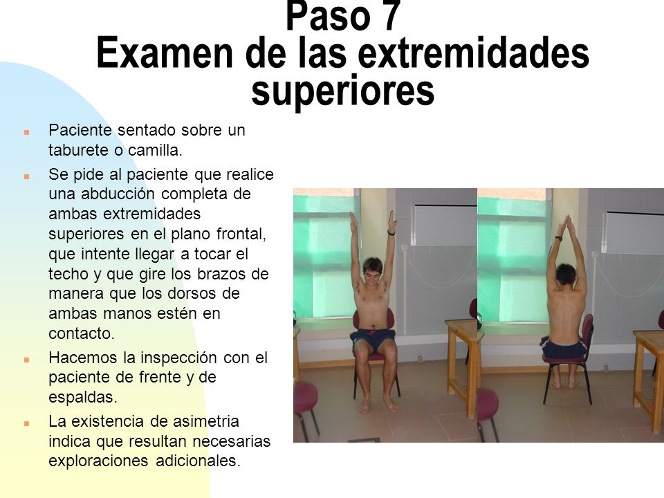 Paso 7 Examen de las extremidades superiores