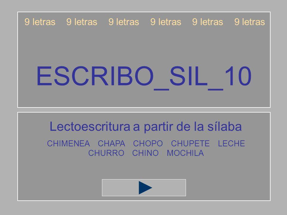 ESCRIBO_SIL_10 Lectoescritura a partir de la sílaba
