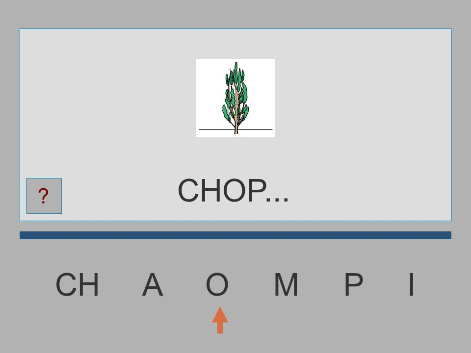 CHOP... CH A O M P I