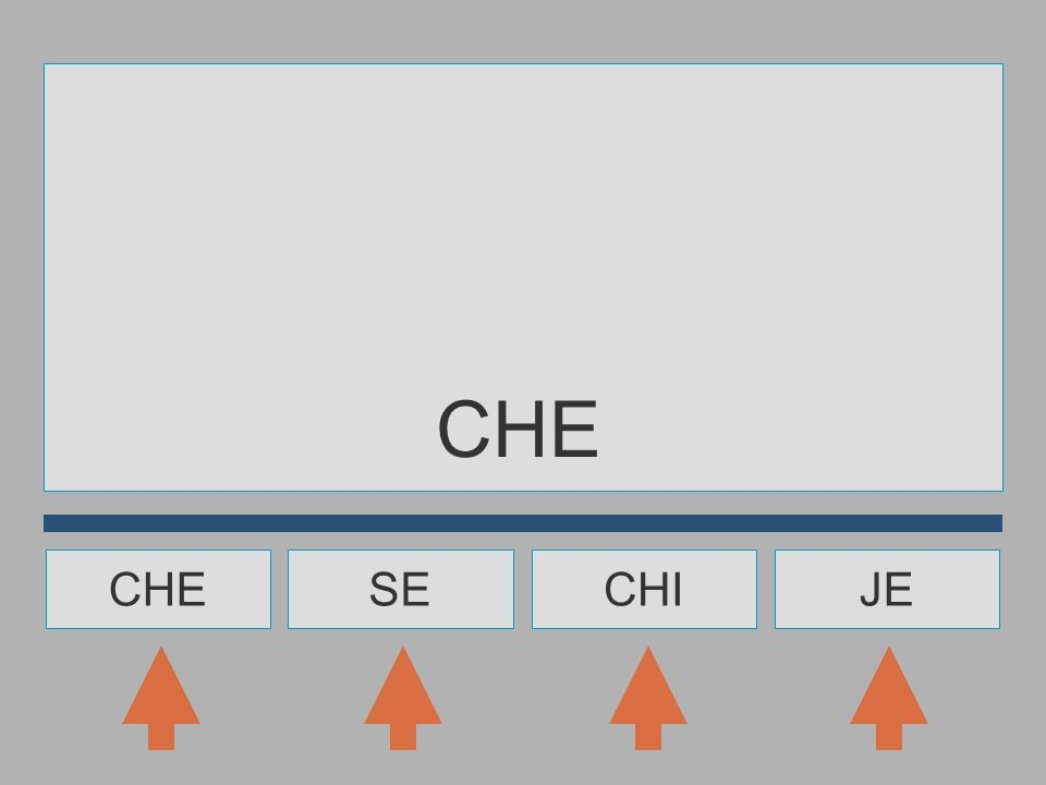 CHE CHE SE CHI JE